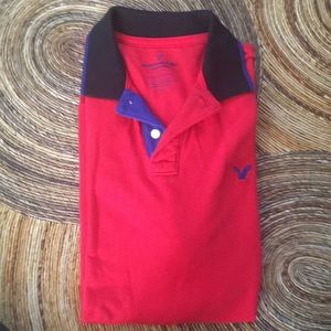 American Eagle outfitters red polo shirt